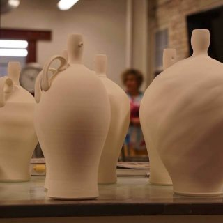 clay vessels created at First City Art Center
